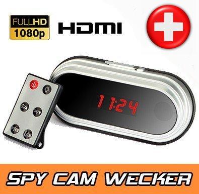 Full HD HDMI Spionageuhr Spionage Wecker getarnt Spy Kamera versteckte Video Kamera Cam Videokamera
