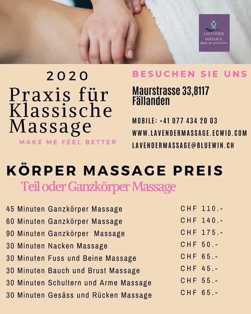 Ganz Körper Massage 60 Min