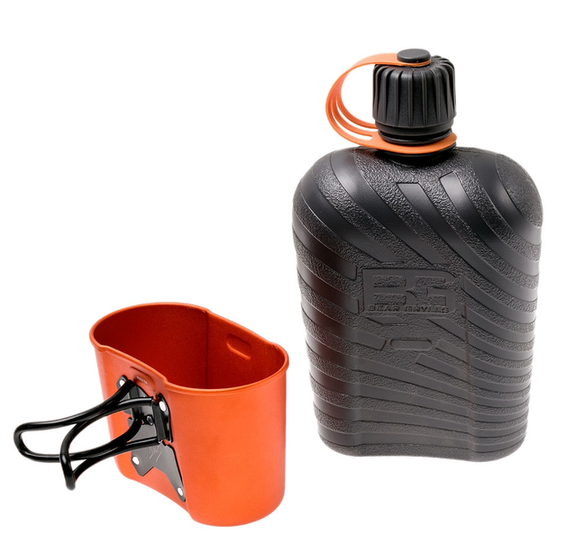 Gerber Bear Grylls Feldflasche Canteen Trink Flasche mit Kochgefäss Militärfeldflasche Militär Outdoor Camping Reisen Survival