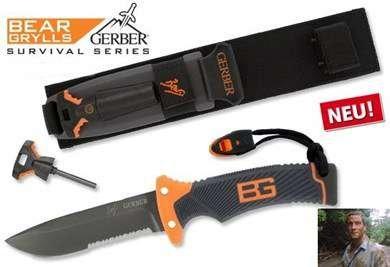 Gerber Messer Bear Grylls Ultimate Messer Version bekannt aus TV Serie DMAX Schweiz Feuerstein Jagd Jagdmesser