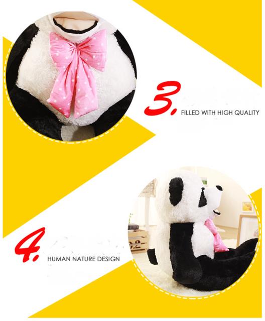 Gigantischer Panda XXL XXXL Riesen Plüsch Pandabär Plüschtier Teddy Bär 260cm Geschenk Kind Freundin Geburtstag