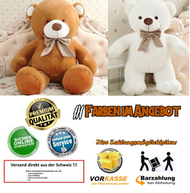 Gigantischer Teddy Teddybär Plüsch Bär Plüschbär Plüsch Kuschel Plüschtier Bärchen Geschenk 3 Farben XXL