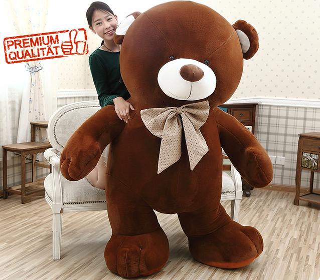 Gigantischer Teddybär Plüschbär Plüsch Teddy Bär 210cm 3 Farben Premium Bärenfell Geschenk Kinder Freundin Neuware