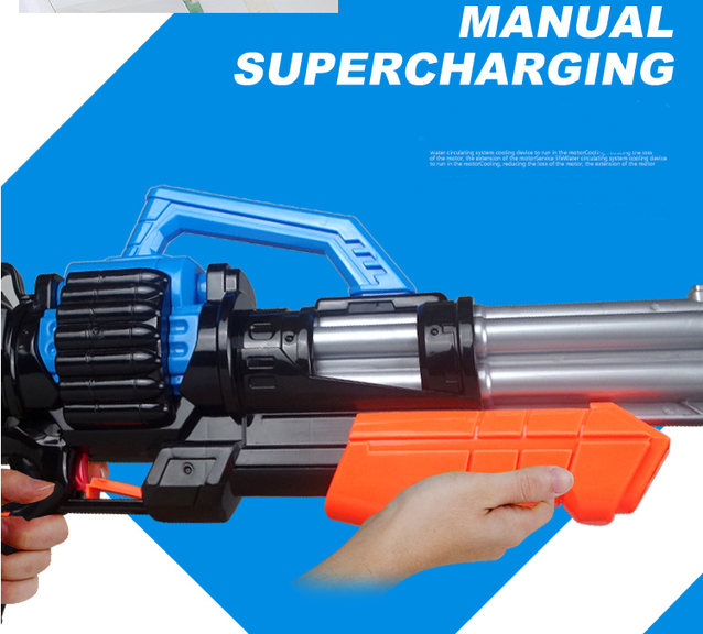 Gigantisches Wassergewehr Wasserpistole Wasser Pistole XXL XXXL Wasser Pistole Gewehr MG Sommer Spielzeug Hit 78cm 2.1L Tank Behälter Kind Kinder Badi