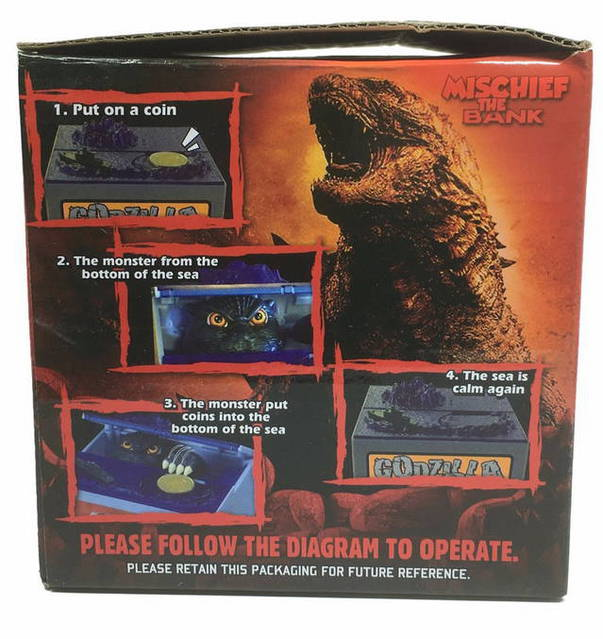 Godzilla elektronische Münz Geld Spardose Sparschwein Sparbox Sparen mit Sound