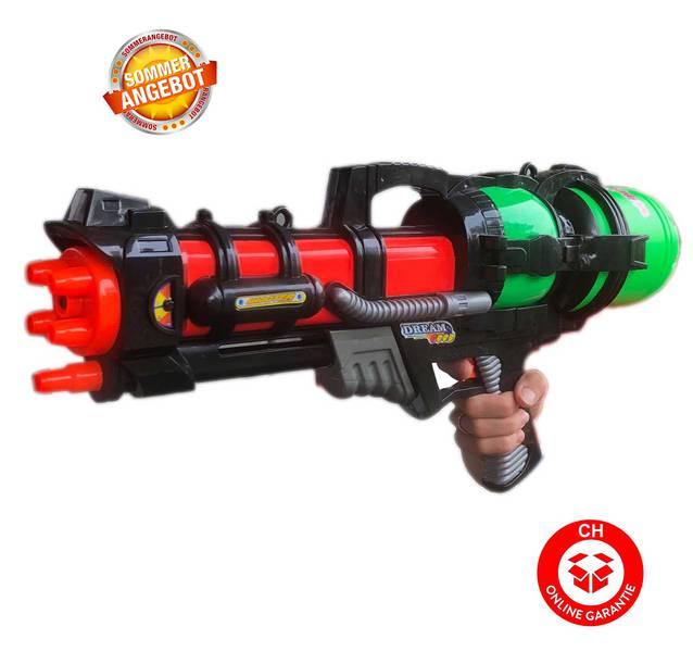 Grosse Wasserpistole 60cm 1.2L Tank Wassergewehr Spritzpistole Pumpgun Blaster Soaker NEU Spielzeug Wasser Sommer
