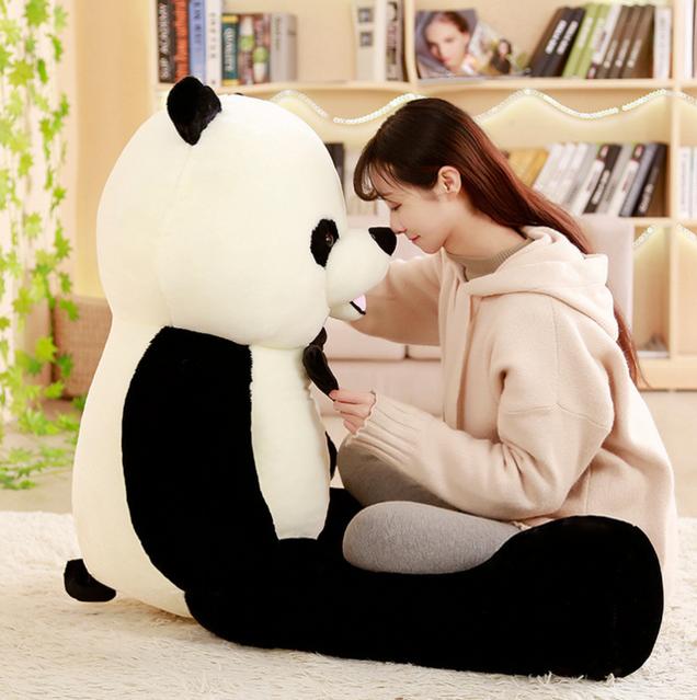 Grosser Plüsch Panda Bär Plüschtier XXL Schwarz Weiss 150cm 1.5m Geschenk Kind Kinder Frau Freundin Schweiz