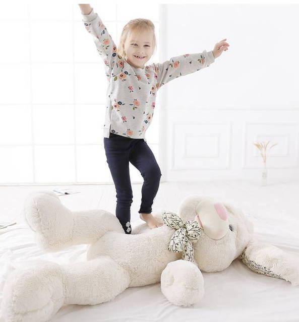 Grosser Plüschhase Hase Plüsch Plüschtier Kuschel Geschenk für Kinder