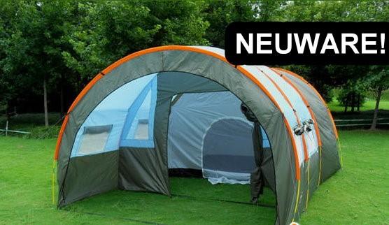 Grosses Blaues Tunnel Zelt Tunnelzelt Outdoor Camping Festival Party 5-8 Personen ca. 10kg Wasserfest NEU Festival Openair Gampel