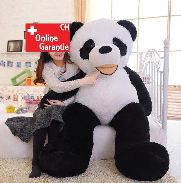 Grosses Panda Plüschtier Pandabär Teddy Bär XXL Geschenk XXXL 2 Meter 200cm Schweiz Weihnachten
