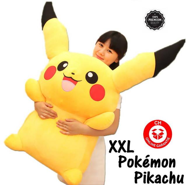 Grosses Pokémon Pikachu Plüsch Kuscheltier Pokemon GO XXL Plüschtier 120cm Geschenk Kind Kinder Fan Serie TV Kino
