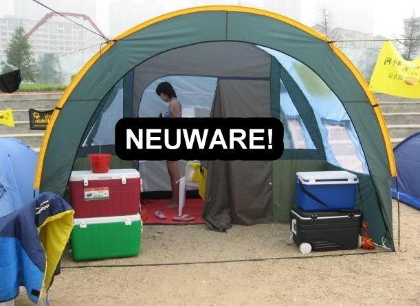 Grosses Tunnel Zelt Partyzelt Hauszelt Camping Openair Tunnelzelt Blau für ca. 5-8 Personen Schlafabteil