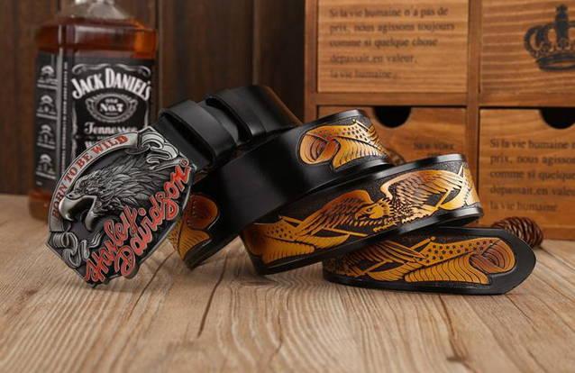 Harley-Davidson Fan Harley Biker Gurt Gürtel Adler Gürtelschnalle Fan