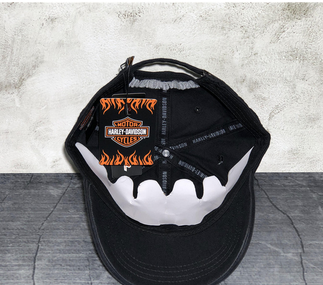 Harley-Davidson Harley Cap Fan HD Schwarz Biker Kappe Baseball Mütze