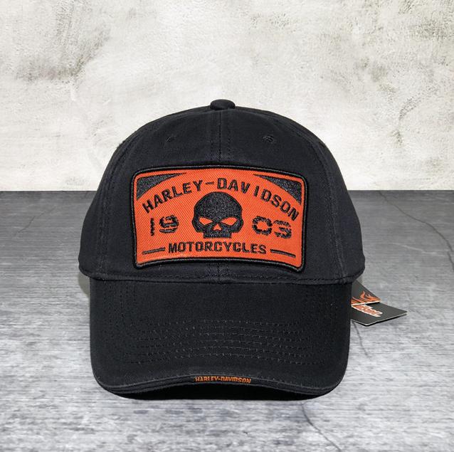 Harley-Davidson Harley Cap Fan HD Schwarz Biker Kappe Baseball Mütze Skull Totenkopf