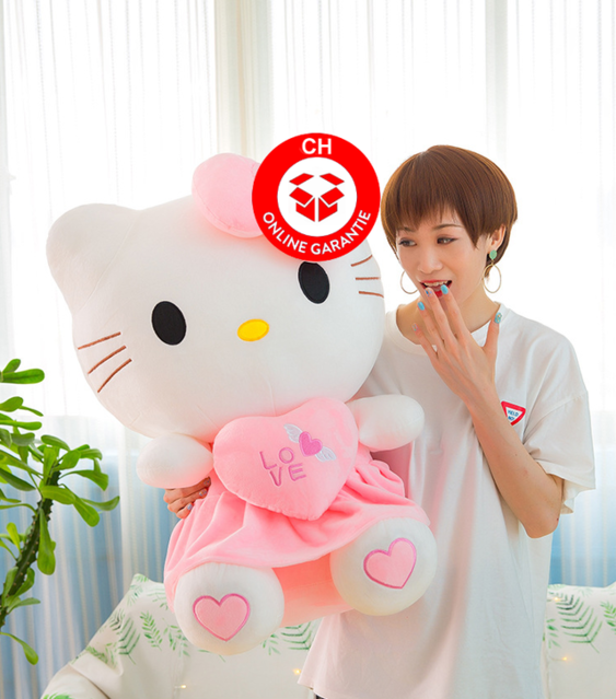 Hello Kitty Hallo Katze Plüschtier XL Liebe Love You Herzig Süss Geschenk Kind Frau Freundin Fan