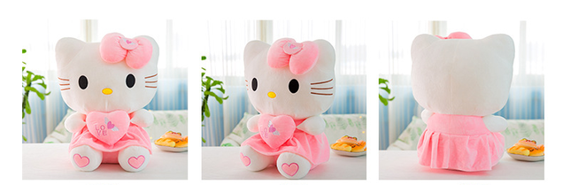 Grosses Hello Kitty Hallo Katze Plüschtier HK XL Liebe Love You Herzig Süss Geschenk Kind Frau Freundin Fan