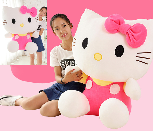 Hello Kitty Hellokitty Plüschtier Gross Plüschkatze Katze Plüsch Gross Mädchen Pink 100cm XXL