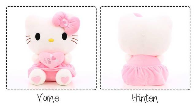 Hello Kitty Helloklitty Plüschtier Katze Pink Rosa XL 70cm Mädchen Kind Geschenk Love Liebe Herz Love Liebe Girl