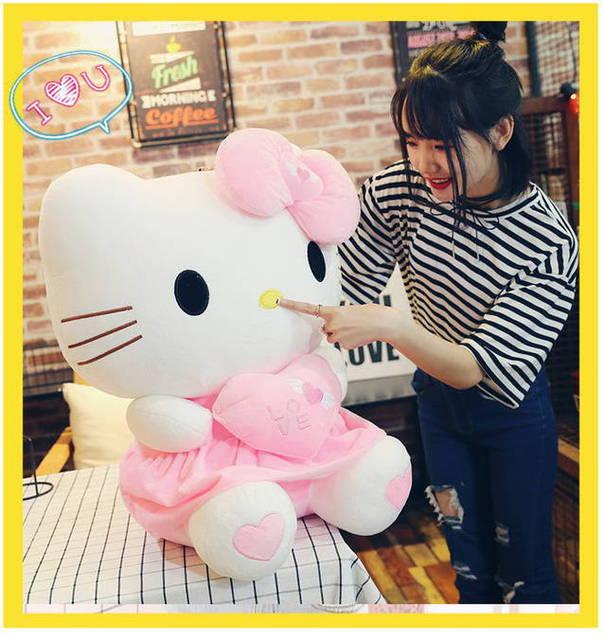 Hello Kitty Helloklitty Plüschtier Katze Pink Rosa XL 70cm Mädchen Kind Geschenk Love Liebe Herz Herzig Süss Schweiz Geschenkidee Mädchen Girl