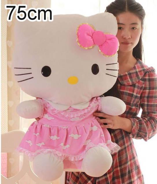Hello Kitty XXL Plüsch Figur 75cm Plüschtier Geschenk Mädchen Spielzeug Gross
