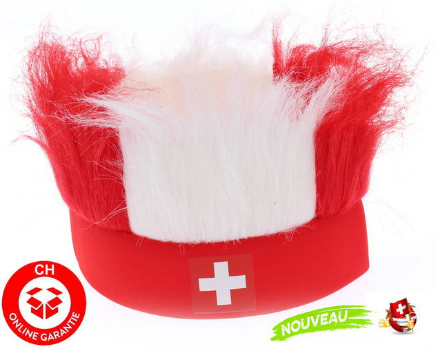 Hopp Schwiiz Schweiz Nati Fanartikel Stirnband Strubbelhaar Fussball Hockey Tennis Schweizer Fan Allez la Suisse