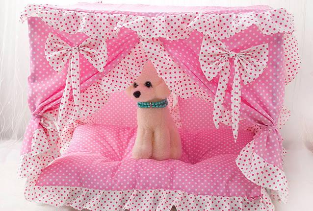 Hunde Katzen Bett Hundebett Katzenbett Hundehaus Katzenhaus Tier Bett Pink Blau