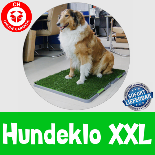 Hundewc Welpentoilette Hundetoilette Hundeklo Welpen Hunde Klo Kunstgras Stubenrein 68x86cm XXL Grösse 3 Schichten