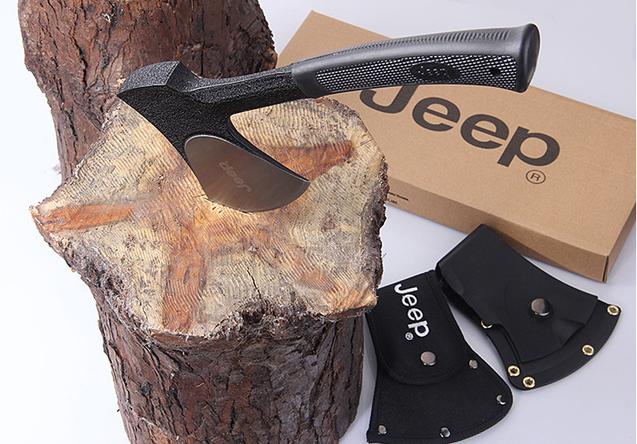 Jeep Axt Beil Handbeil Outdoor Fan Survival Outdoor Camping Wildnis mit Nylonhülle und Gurtschlaufe