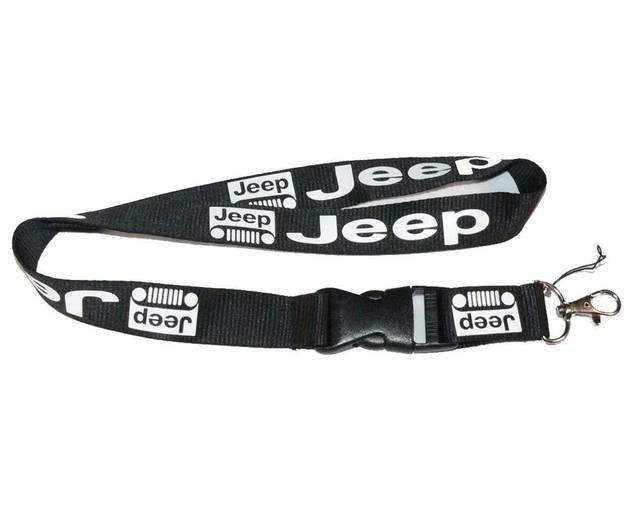 Jeep Fan Schlüssel Anhänger Band Schlüsselanhänger Schlüsselband Schwarz Fanshop