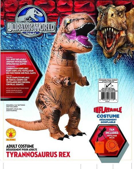 Jurassic Park T-Rex Tyrannosaurus Dino Dinosaurier Kostüm Aufblasbar Erwachsene
