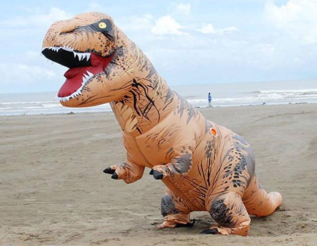 Jurassic Park / World T-Rex Tyrannosaurus Rex Dino Dinosaurier Kostüm Aufblasbar Erwachsene Adult Kult