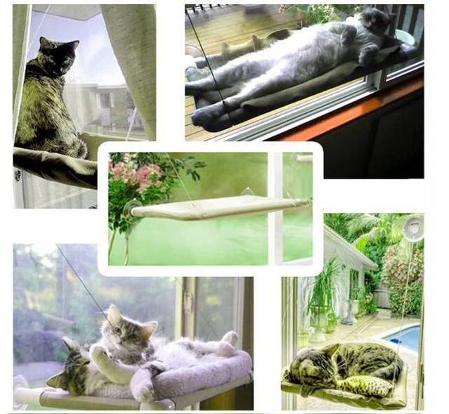 Katzen Schlafplatz Liege Katzenliege Fensterliege Katzensitz Sunny Seat Katzenfenster bekannt aus TV USA Hit