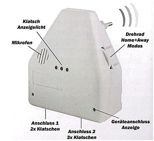 Klatschschalter Klatsch Schalter Clapper Schweiz Elektrogeräte Lampe Lampen TV bekannt aus dem TV Werbung Gadget Apparat