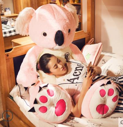 Koala Bär Plüsch Plüschtier XXL Plüschkoala Kuscheltier 140cm Grau Geschenk Weihnachten Kind Kinder Frau Freundin Grau Pink Rosa Süss