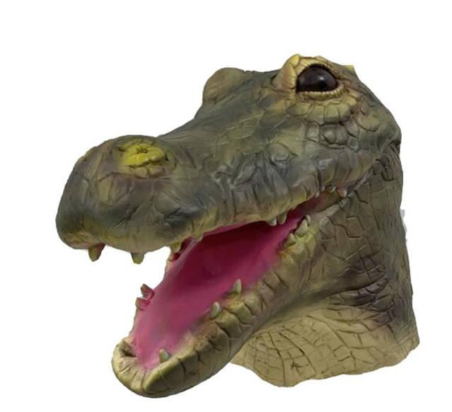 Krokodil Maske Alligator Latex Fasnacht Halloween Party Tiermaske Erwachsene