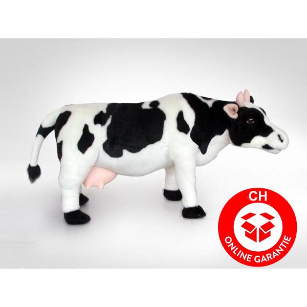 Kuh Plüsch Milchkuh Schwarz Weiss Schwarzweiss XXL 70cm Geschenk Deko Schweiz Milch