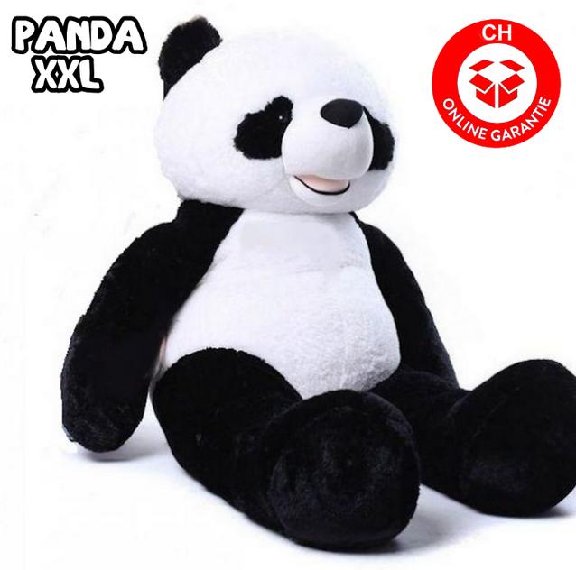 Kuscheltier Panda XXL 200cm 2m Pandabär Teddy Weiss Schwarz Geschenk Kind Kinder