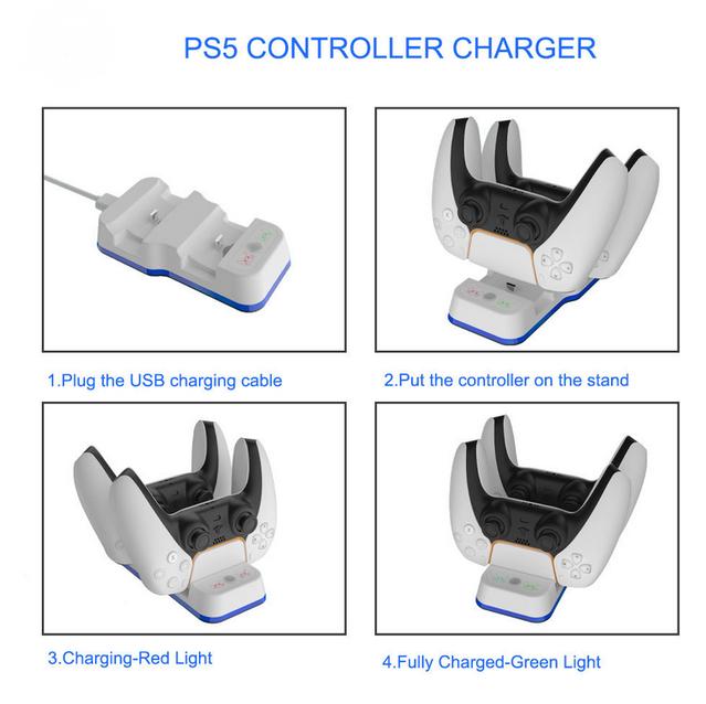 Ladestation Sony Playstation 5 PS5 Controller DualSense Gamepad PS Gaming Spielkonsolen Zubehör Neuheit