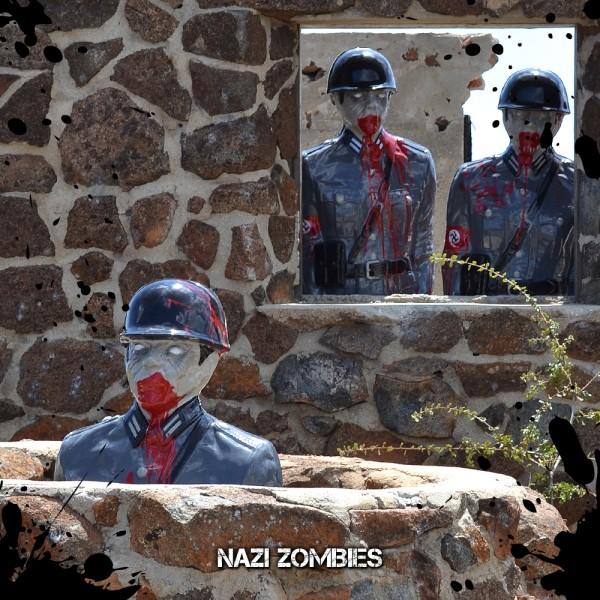 Lebensgrosser 3D Zombie Zielscheibe Ziel Scheibe Blut Airsoft Gewehr Schuss Target