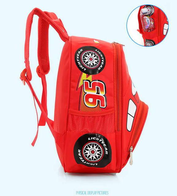 Lightning McQueen Rucksack Schul Tasche Cars Disney Auto Charakter Kinder Kindergarten Primar Schule Kind Junge NEU