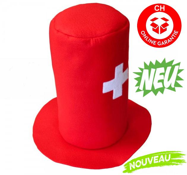 Lustiger Schweiz Zylinder Hut Kappe Mütze Fanartikel Hut Fanhut Fanmütze Hopp Schwiiz Switzerland Cap XXL