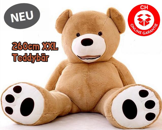Mega Grosser Plüschbär Teddy Plüsch Bär 260cm Gross Geschenk Geburtstag, Weihnachten oder Valentinstag - für Kinder Frauen
