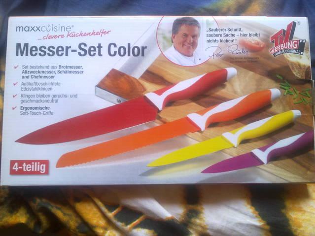 Messer Color-Set in 4 Grössen aus der TV-Werbung
