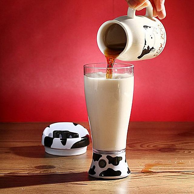 Milch Schoko Ovi Ovo Moo Mixer Kakao Milchmischer Verrührer Mobil Unterwegs Arbeit Mixer Shake Shakes Gerät