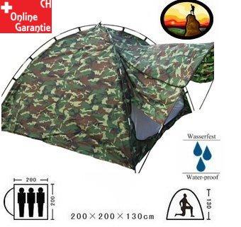 Militär Camouflage Zelt Militärzelt 2-3 Personen Outdoor Camping Openair Festival Jagd