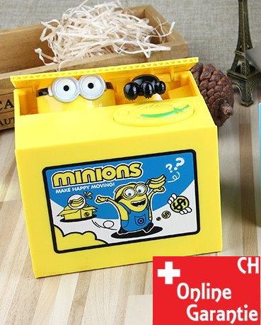 Minions Geld Sparbox Spardose Sparschein Geschenk Kinder Münz Geld Münzen Sparen