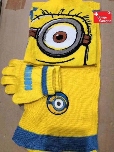 Minions Kinder Winter-Set 3-tlg. Mütze, Schal und Handschuhe Fan TV Kino