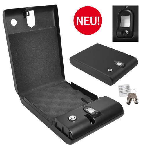 Mobiler Tragbarer Safe Fingerabdruck Tresor Gastro Waffe Schmuck Sicherheit