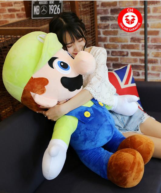 Nintendo Super Mario Luigi Plüsch Plüschfigur Plüschtier XXL 100cm Geschenk Kind Fan